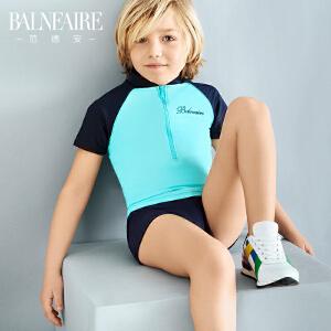 范德安2016新款儿童泳衣男童平角可爱防晒中大童分体专业游泳衣