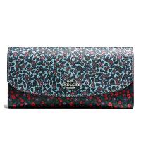 【当当自营】蔻驰(COACH)新款女士翻盖印刷涂层帆布卡包钱包手拿包  F59060