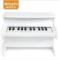 铭塔儿童钢琴木质木制25键乐器音乐宝宝女孩玩具小钢琴 粉色