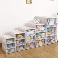 加厚特大号透明塑料抽屉式收纳箱儿童宝宝衣柜整理柜抽屉柜收纳柜收纳盒