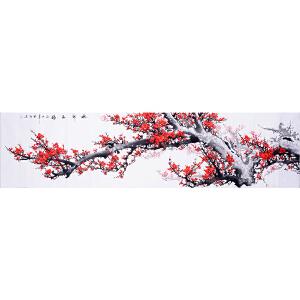 省美协会员 国画研究会会员 高级画师 张福生2.4米《梅开五福》