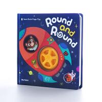 【原版进口】美乐童年 蓝兔 圆啊圆 Round and Round 儿童早教益智书幼儿左右脑开发书0-3-6岁宝宝启蒙认知书籍英文绘本趣味玩具书