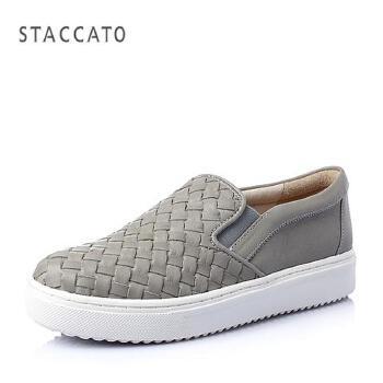 STACCATO/思加图 春季专柜同款小牛皮女单鞋(编织)9UI08AM5