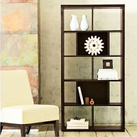 百意空间定制玄关柜门厅柜客厅书柜自由组合立柜书架隔断置物架储物柜格子柜子