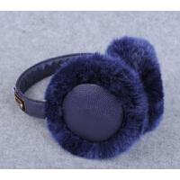 保暖冬季耳暖时尚耳捂潮 可爱耳罩女冬耳套皮革耳包毛毛护耳