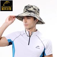 渔民部落钓鱼帽男迷彩大边防晒帽遮阳帽太阳帽遮脸帽