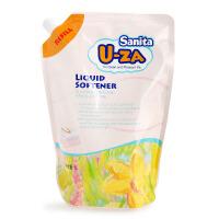 韩国Sanita U-ZA婴儿衣物柔顺剂1L天然柚子抗菌宝宝柔顺剂补充装