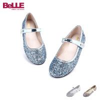 Belle/百丽童鞋 中童皮鞋甜美闪亮小皮鞋DE0194
