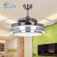 祺家现代简约风扇吸顶灯2用吊灯客厅灯餐厅灯卧室灯F2