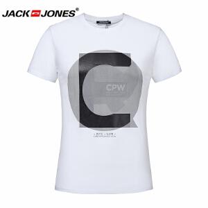 杰克琼斯/JackJones时尚百搭新款T恤 时尚字母--C-8-2-1-216301519023