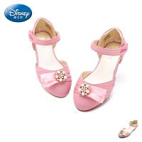 迪士尼童鞋儿童单鞋皮鞋2017春季新款中大童公主鞋女童学生鞋凉鞋DS1959