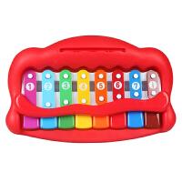 美贝乐 婴幼儿玩具琴宝宝早教益智玩具八音手敲琴乐器儿童钢琴4009颜色*