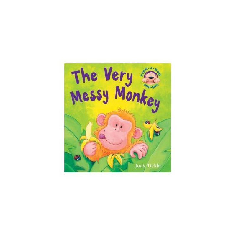 英文原版 the very messy monkey pop up 儿童立体书