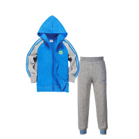 鸿星尔克童装套装 儿童秋季新品男童运动套装 大童舒适长袖连帽运动卫衣运动长裤组合