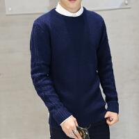 地球城冬季男士半高领毛衣加厚打底衫韩版修身套头针织衫男潮