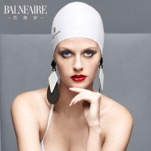 范德安防水护耳硅胶泳帽女长发不勒头大号纯色通用专业成人游泳帽