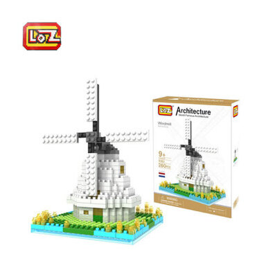 俐智 世界著名建筑系列 益智拼插钻石颗粒 小颗粒积木_荷兰风车-9363