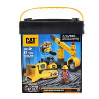 [当当自营]CAT 卡特 建筑拼装系列 推土机初级操作员(中号桶装)80912