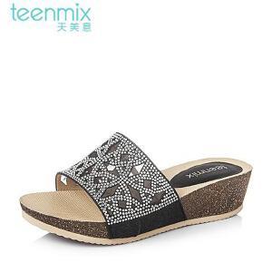 Teenmix/天美意夏季专柜同款布女鞋6YE12BT6