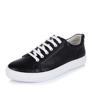 Belle/百丽秋专柜同款牛皮男休闲鞋4NK01CM6小白鞋运动鞋女小白鞋女