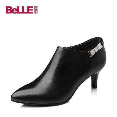 Belle/百丽 秋专柜同款小牛皮女单鞋3VDK5CM5百丽官方直营 正品有保障