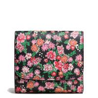 【当当自营】蔻驰(COACH)新款女士花卉图案涂料帆布卡包钱包  F57642