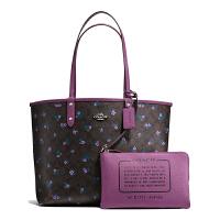 【当当自营】蔻驰(COACH)新款女士印刷涂层帆布双面包内置小包手提包购物袋 F59460