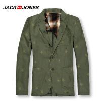 杰克琼斯秋冬季男士商务修身休闲百搭免烫西服 25-2-1-213108007043