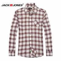 杰克琼斯男士英伦时尚格子百搭修身长袖衬衫17-3-2-213105026070