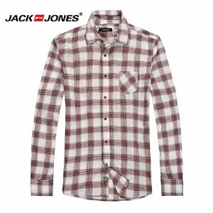 杰克琼斯 秋季 男士长袖衬衫 格子衬衣17-3-2-213105026070