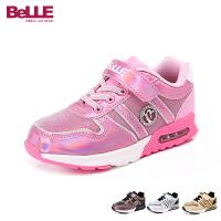 Belle/百丽2016秋冬季女童休闲旅游童鞋 中童运动鞋DE0169
