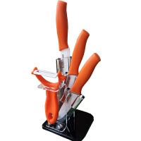 莱滋陶瓷刀套装 陶瓷水果刀 削皮器带刀座 ic-20颜色随机
