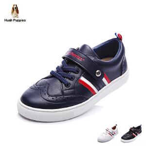 暇步士童鞋17年夏季滑板鞋新款中大童搭扣系带休闲鞋男女童学生鞋 DP9061
