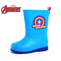 迪士尼儿童雨靴女童鞋2016美国队长钢铁侠睡美人夏季防水防滑男童鞋大童雨靴