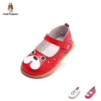 暇步士童鞋2017年春秋新款女童羊皮皮鞋小童卡通学生鞋宝宝鞋 DP9046