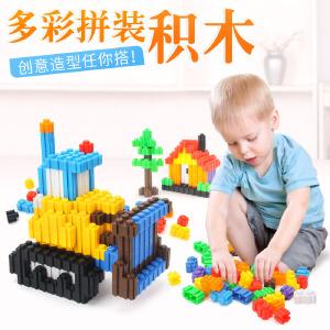 橙爱 立体多变塑料 大颗粒积木男女孩益智儿童拼装玩具
