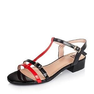 BATA/拔佳夏季专柜同款漆牛皮革女皮凉鞋51802BL6