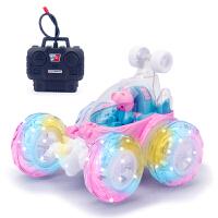 充电遥控车儿童思维玩具车大号特技车男女孩翻滚特技佩佩猪翻斗车