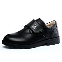 16.5cm~25.5cm巴布豆童鞋 男童皮鞋2017春秋新款男童鞋中大童表演鞋学生黑皮鞋