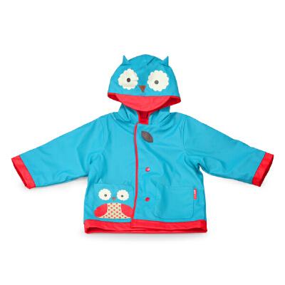 美国skip hop儿童雨衣 可爱动物园系列宝宝雨衣 带帽加厚保暖_中号 猫