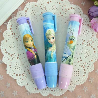 日韩精品文具 可爱小清新 按动式橡皮 好用的橡皮擦 儿童礼物_冰雪