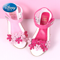 迪士尼女童凉鞋真皮2017新款夏季韩版公主鞋学生宝宝鞋儿童凉鞋女