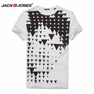 杰克琼斯/JackJones时尚百搭新款T恤 黑白三角-40-4-4-215201024023