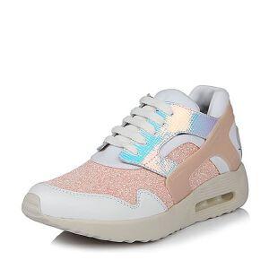 Belle/百丽春季专柜同款时尚运动风亮片布女单鞋BHM22AM6