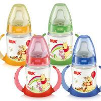 NUK150ml迪士尼维尼PP两用喝水杯学饮杯带手柄颜色随机发适合6个月以上宝宝