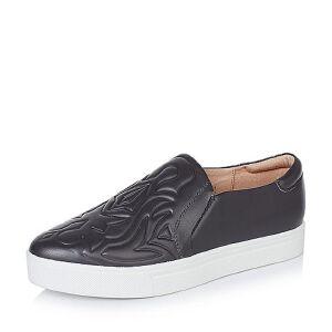 Bata/拔佳牛皮革女皮鞋55413CM6女乐福鞋