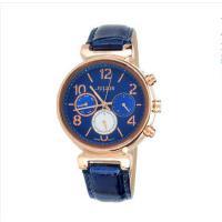 聚利时(Julius)韩国时尚手表 多功能日历显示 真皮皮带 女士石英手表 JA-850