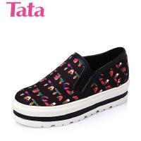 Tata/他她春季印花布时尚休闲女单鞋2KEA1AM6