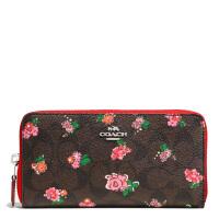 【当当自营】蔻驰(COACH)时尚女士涂层帆布印花手拿包钱包卡包  F56496