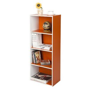 [当当自营]慧乐家 L40四层收纳柜12055 橙色白色 书柜书架 柜子